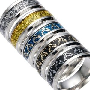 Other - 2/$25 Fashion Stainless Ring Men/Women Dolphins